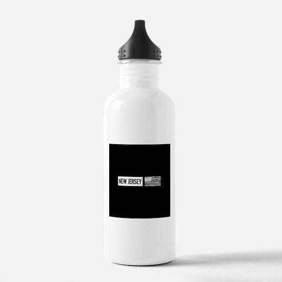 U.S. Flag: New Jersey Water Bottle