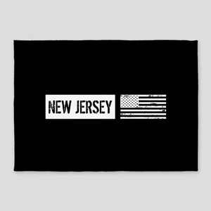 U.S. Flag: New Jersey 5'x7'Area Rug