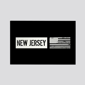 U.S. Flag: New Jersey Rectangle Magnet