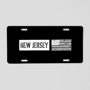 U.S. Flag: New Jersey Aluminum License Plate