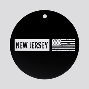 U.S. Flag: New Jersey Ornament (Round)