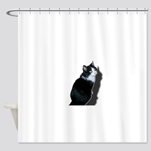 Black & white cat Shower Curtain