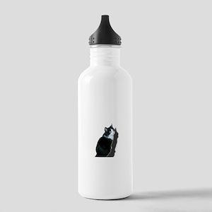 Black & white cat Water Bottle