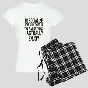 Antisocial Humor Women's Light Pajamas