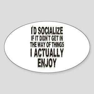 Antisocial Humor Sticker