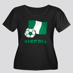 Nigeria Flag and Soccer Plus Size T-Shirt