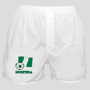 Nigeria Flag and Soccer Boxer Shorts