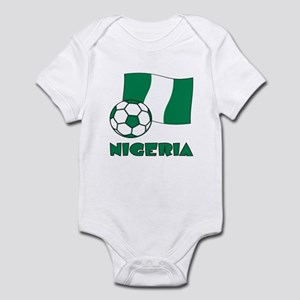 Nigeria Flag and Soccer Body Suit