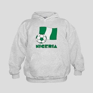 Nigeria Flag and Soccer Kids Hoodie