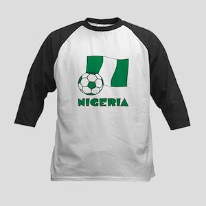 Nigeria Flag and Soccer Baseball Jersey