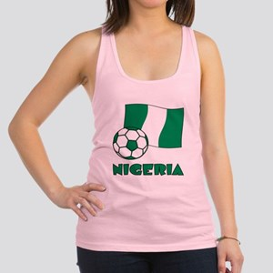 Nigeria Flag and Soccer Racerback Tank Top