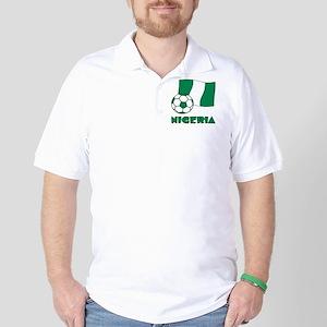 Nigeria Flag and Soccer Golf Shirt