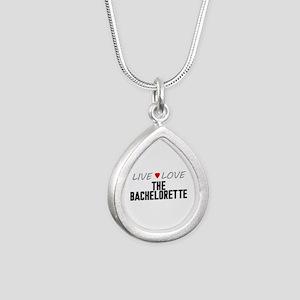 Live Love The Bachelorette Silver Teardrop Necklac