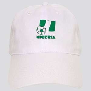 Nigeria Flag and Soccer Cap