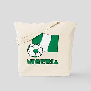 Nigeria Flag and Soccer Tote Bag