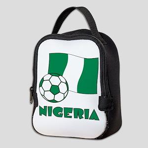 Nigeria Flag and Soccer Neoprene Lunch Bag