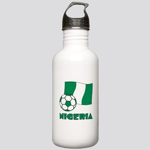Nigeria Flag and Socce Stainless Water Bottle 1.0L