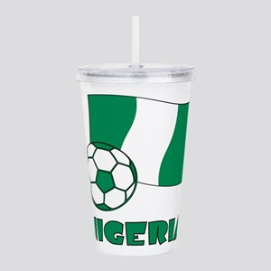 Nigeria Flag and Socce Acrylic Double-wall Tumbler