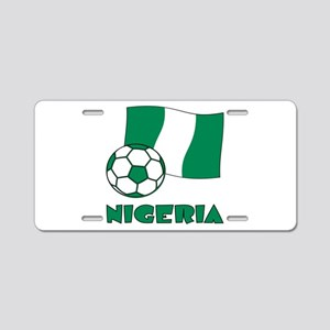 Nigeria Flag and Soccer Aluminum License Plate