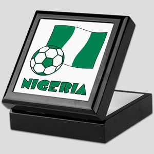 Nigeria Flag and Soccer Keepsake Box