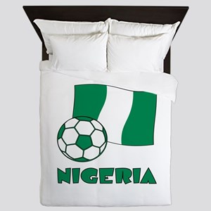 Nigeria Flag and Soccer Queen Duvet