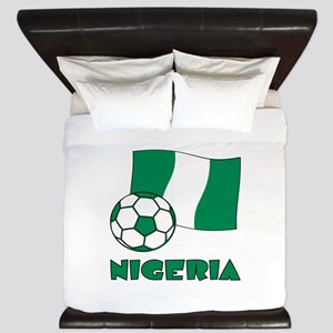 Nigeria Flag and Soccer King Duvet