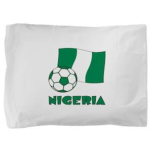 Nigeria Flag and Soccer Pillow Sham