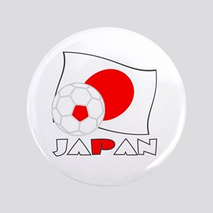 Japanese Soccer Ball and Flag Button