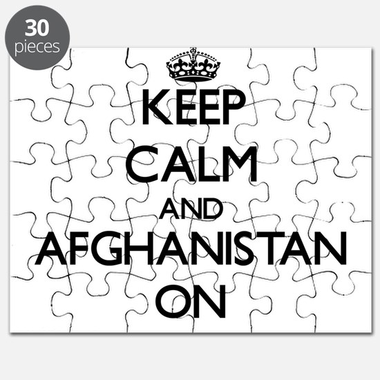 Keep calm and Afghanistan ON Puzzle