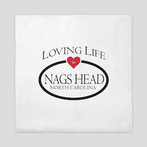 Loving Life in Nags Head, NC Queen Duvet