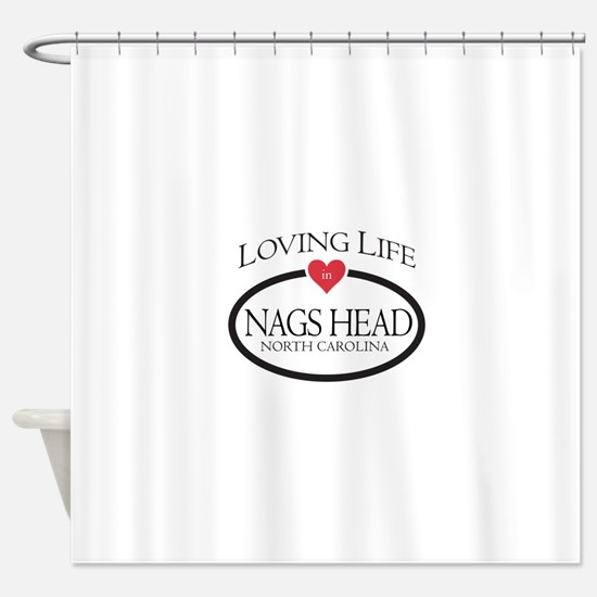 Loving Life in Nags Head, NC Shower Curtain
