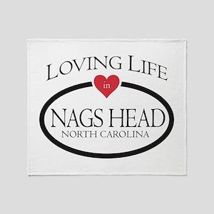 Loving Life in Nags Head, NC Throw Blanket