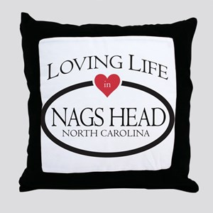 Loving Life in Nags Head, NC Throw Pillow