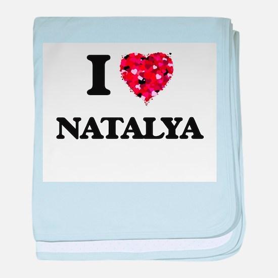 I Love Natalya baby blanket