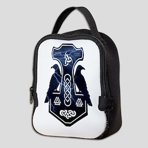 Lightning Bolt Thor's Hammer Neoprene Lunch Bag