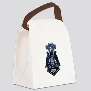 Lightning Bolt Thor's Hammer Canvas Lunch Bag