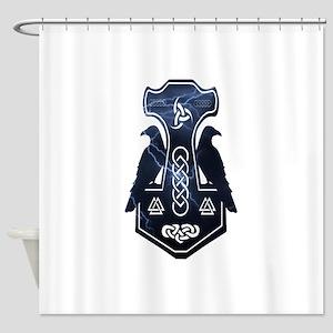 Lightning Bolt Thor's Hammer Shower Curtain