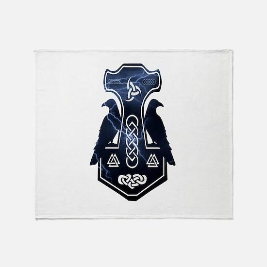 Lightning Bolt Thor's Hammer Throw Blanket