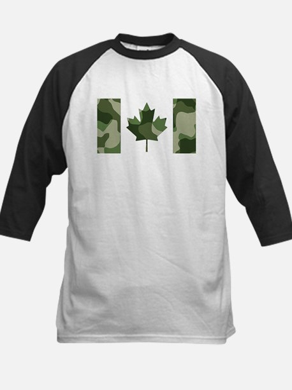 Canadian Flag Camo Treeline Light Baseball Jersey