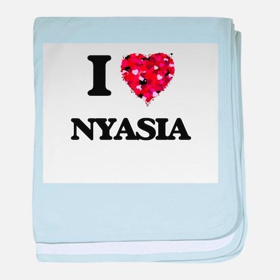 I Love Nyasia baby blanket