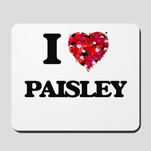 I Love Paisley Mousepad