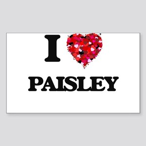 I Love Paisley Sticker