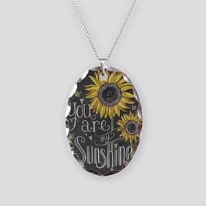 You are my sunshine Necklace Oval Charm