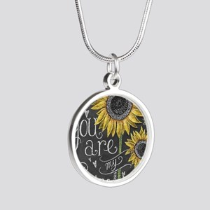 You are my sunshine Silver Round Necklace