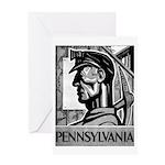 Pennsylvania Coal WPA 1938 Greeting Card