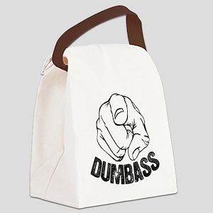 Dumbass Moron Idiot Jerk Canvas Lunch Bag