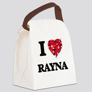 I Love Rayna Canvas Lunch Bag