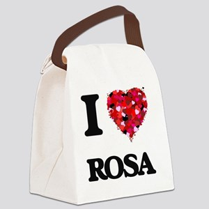 I Love Rosa Canvas Lunch Bag
