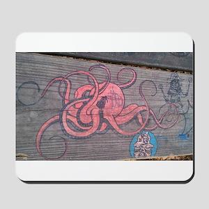 Graffiti Octopus Mousepad