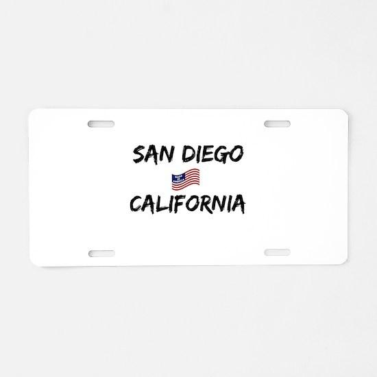 San Diego California Aluminum License Plate